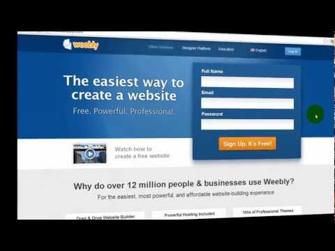 How to Sign Up and Set Up Domain Name with Weebly