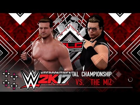 WWE TLC 2016: The Miz vs. Dolph Ziggler - Intercontinental Title Ladder Match — WWE 2K17 Match Sims