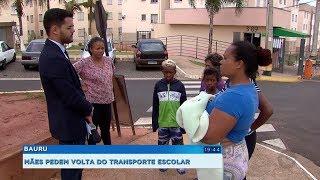 Mães de alunos questionam falta de transporte escolar em Bauru