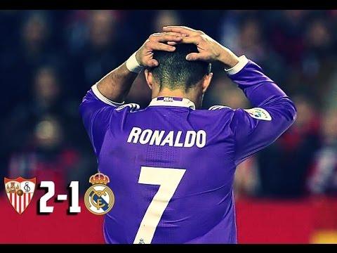 Sevilla 2 x 1 Real Madrid - GOLS - Campeonato Espanhol 2017 15/01/17