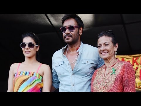 kajol - Recently spotted Kajol along with hubby Ajay Devgn and mother Tanuja at the launch of 'Save environment campaign, Ajay said that his wife doesn't know how to...