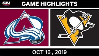 NHL Highlights | Avalanche vs Penguins – Oct 16 2019 by Sportsnet Canada