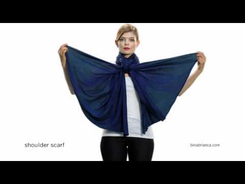 Blue Womens Shoulder Scarf - How to Make The Bina a Shoulder Scart