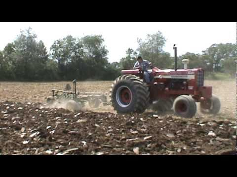 IH international tractors plowing