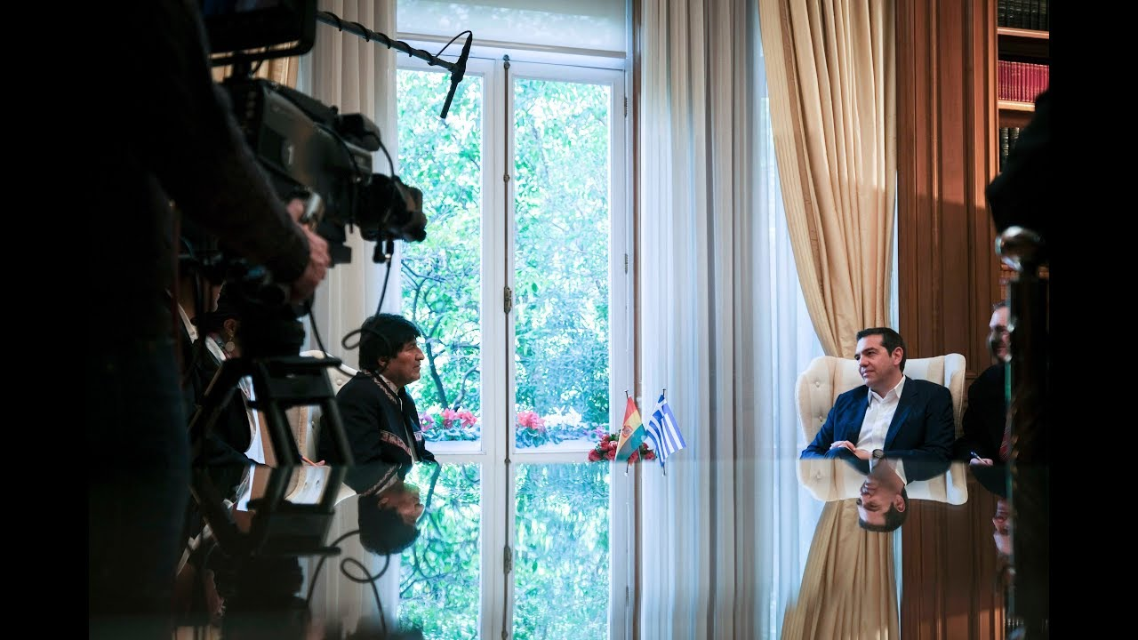 Συνάντηση με τον Πρόεδρο της Βολιβίας Έβο Μοράλες
