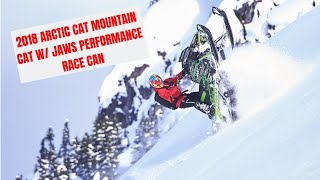 7. 2018 Arctic Cat Mountain Cat M8000 with Jaws Performance Race Can!! LOUD!