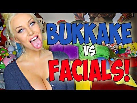 BUKKAKE VS FACIALS! (видео)