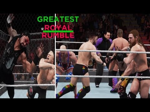WWE 2K18 GREATEST ROYAL RUMBLE FULL SHOW PREDICTION HIGHLIGHTS - PART 1