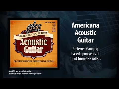 GHS Strings - Americana Series - Acoustic Guitar
