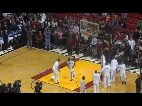 dunkfest - I got to the Heat-Grizzlies game just in time to watch the Heat do their mini pre game dunk contest. Unfortunately I started the recording a little late so I...