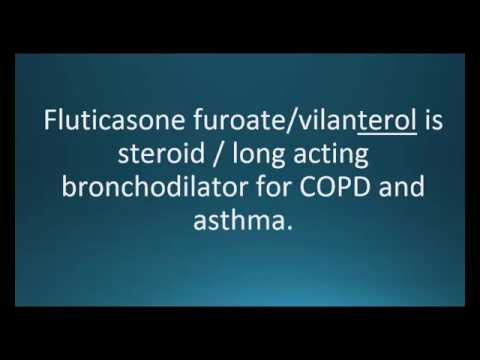 How to pronounce fluticasone / vilanterol (Breo Ellipta / Relvar Ellipta) (Memorizing Pharmacology)