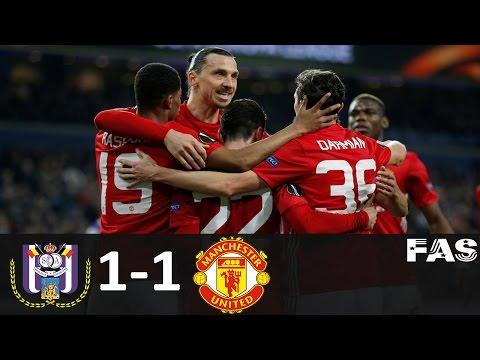 Anderlecht vs Manchester United 1- 1 All Goals - Highlights - Europa League 13-04-2017