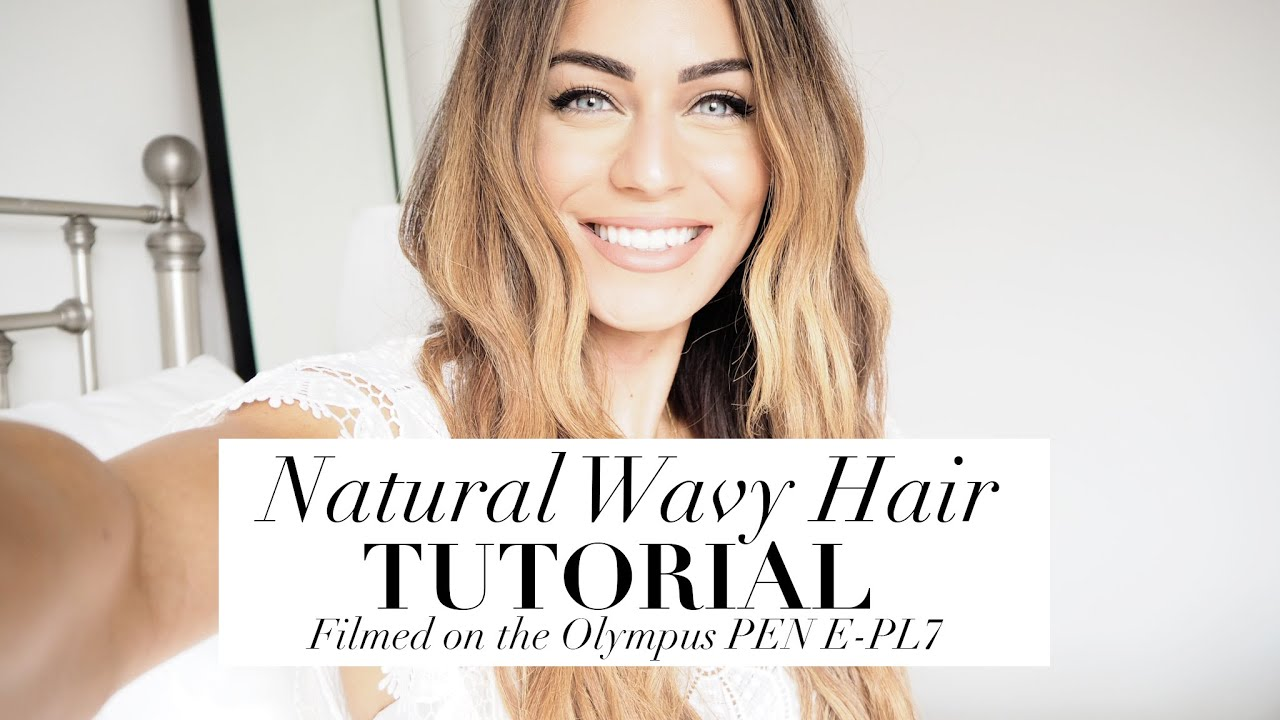 NATURAL WAVY HAIR TUTORIAL | Filmed on the Olympus PEN | Lydia Elise Millen