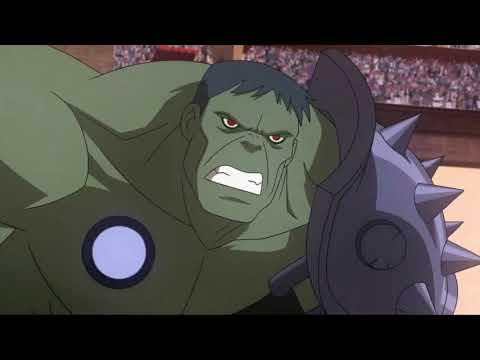 PLANET HULK [2010] Scene: Hulk vs. Beta Ray Bill.
