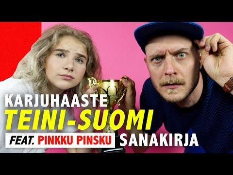 TEINI-SUOMI-sanakirja haaste (ft. Pinkku Pinsku) | Kalenterikarju