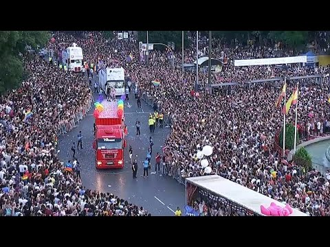 Ισπανία: Λαοθάλασσα στο gay pride της Μαδρίτης