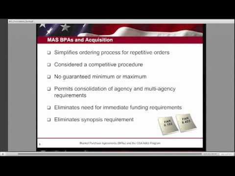 an introduction to the blanket purchase agreements bpas Pt 6 of 6 - bpa video how-to's for blanket purchase agreements ordering procedures for bpas  blanket purchase agreements (bpas) - 6 of 6  ebuy introduction (1 of 10) - duration: 2:19.