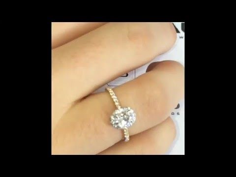 0.50 Ct Oval Halo Diamond Ring In Rose And White Gold
