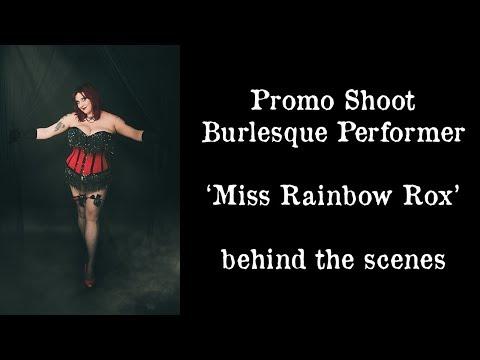 Shooting Promo and Classic Boudoir for Burlesque Performer - Instax, Godox, Nikon