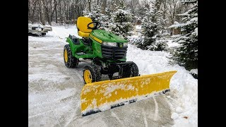 6. Move Snow In Style!  Snow Plowing with a 2017 John Deere x739 Tractor & 72