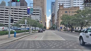 Center (TX) United States  city photo : Driving Downtown - Houston's City Center - Houston Texas USA