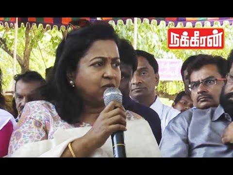 Raadhikas-voice-against-Hindi-dubbed-serials-Tamil-Serial-Artists-Fasting