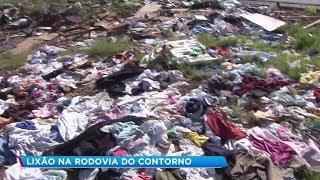 Lixo acumulado às margens de rodovia em Marília chega a uma tonelada