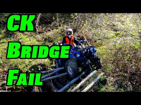 ATV Bridge Fail -  Holiday Ride - CK Activates Diff-Lock - Oct.11, 2014