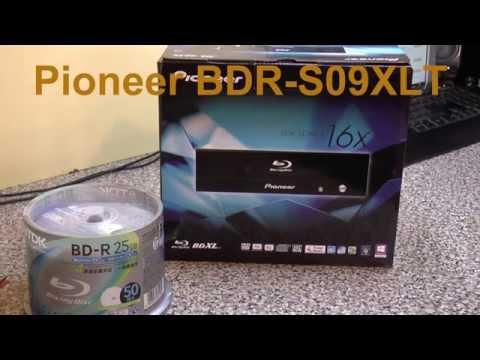 Pioneer BDR S09XLT BluRay Disk Writer & TDK BD R Disks Unboxing Testing