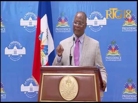 Le Président provisoire, Jocelerme Privert intervient sur le processus électoral