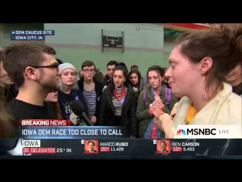 F Bomb On MSNBC From Young Iowa Voter Forces Brian Williams To Apologize