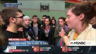 Williams (IA) United States  city photos : Young Iowa voter drops F bomb on MSNBC, Brian Williams and Rachel Maddow apologize