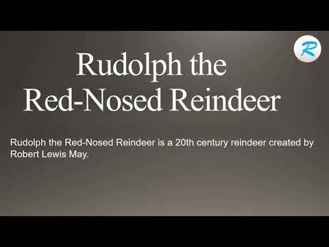 How to pronounce Rudolph the Red Nosed Reindeer  | Rudolph the Red Nosed Reindeer  Pronunciation