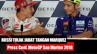 Video PANAS!! Rossi Tolak Jabat Tangan Marquez Jelang MotoGP San Marino 2018 MP3, 3GP, MP4, WEBM, AVI, FLV Desember 2018