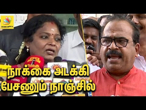 Download நாக்கை அடக்கி பேசணும் நாஞ்சில் சம்பத்! | Nanjil Sampath.. stop disrespectful speech : Tamilisai HD Mp4 3GP Video and MP3