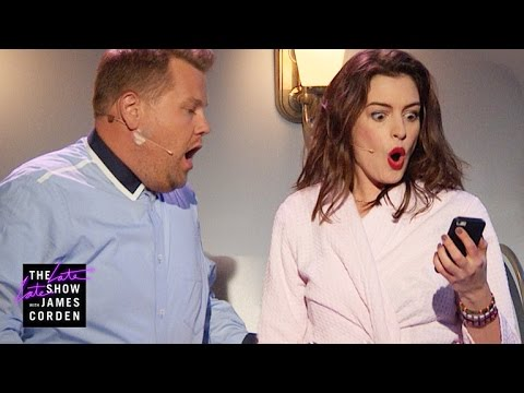 Anne Hathaway and James Corden Perfectly Parody Every Romantic Comedy