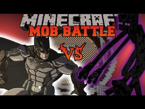 MUTANT ENDERMAN VS. BATMAN – Minecraft Mod Battles – Mob Battle – Mutant Creatures Super Heroes Mods