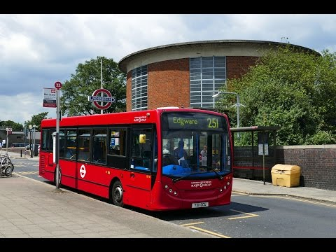 London Buses - Route 251 from Edgware to Arnos Grove (видео)