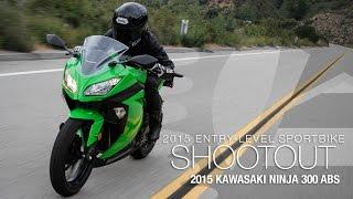 5. 2015 Kawasaki Ninja 300 ABS - Entry Sport Shootout Pt 2 - MotoUSA