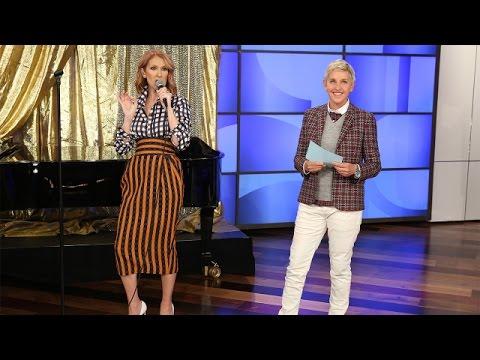 """سيلين ديون تغني أغنيات """"راب"""" على طريقتها في برنامج TheEllenShow"""