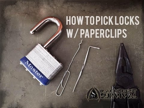 Pick Locks With Paperclips