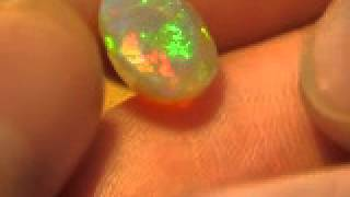 2.55ct Welo Ethiopia Opal Faceted Saturated Sheen Color Play
