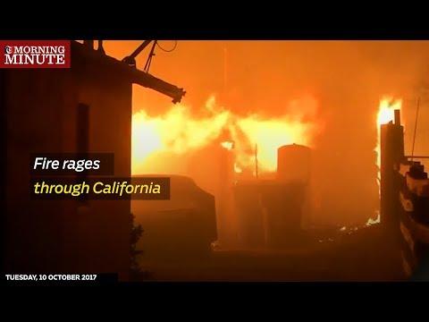 Fire rages through California