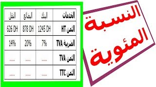 الرياضيات السادسة إبتدائي - النسبة المئوية 2 تمرين 5