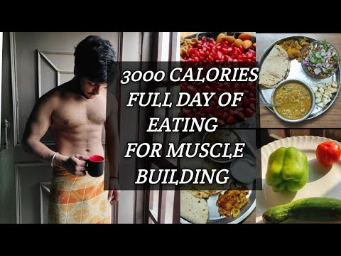 Full Day Of Eating For Muscle Building | 3000 Calories | Bulking Diet Plan