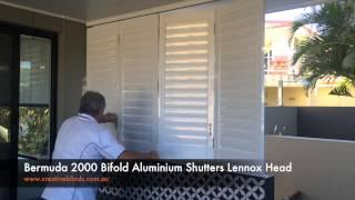 Bermuda 2000 Bi-folding Aluminium Shutters Lennox Head