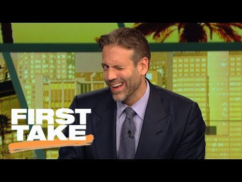 Max winks at camera while talking about Lakers getting LeBron James | First Take | ESPN
