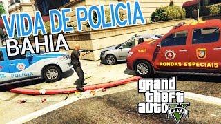 Vida de Polícia #18 - POLICIAIS DA BAHIA NA PERSEGUIÇÃO E LADRÕES NA FUGA BATE O CARRO - GTA 5 MODS PC créditos dos mods: EdvanJs ...