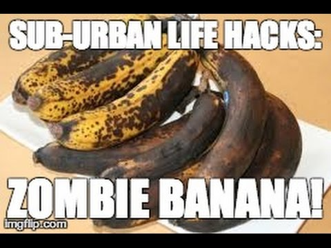 LIFE HACK: Make A Banana Fresh Again! #ZombieBanana