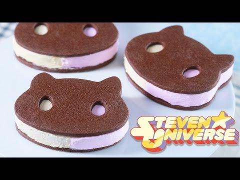 COOKIE CAT ICE CREAM SANDWICHES - STEVEN UNIVERSE - NERDY NUMMIES (видео)